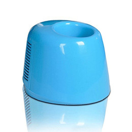 Wholesale Mini Usb Powered Fridge - Wholesale- New Arrival Car USB Powered Mini Fridge Drink Cans Cooling Fridge Beverage Cooler Warmer