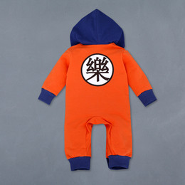 Wholesale Clothes Characters Baby - Cartoon Dragon Ball Z Baby Rompers Newborn Baby Boy Clothes Christmas Costumes Boy Girl Clothing Toddler Girls Halloween Clothes