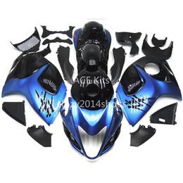 Wholesale black hayabusa fairing kit - 5 free gifts New ABS motorcycle Fairing Kits 100% Fit For SUZUKI GSXR1300 Hayabusa 2008-2014 good nice blue and black Article no.327