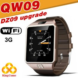 Wholesale Android 3g Phone Windows - QW09 smart watches DZ09 android upgrade WIFI card positioning of 3G call 5 million camera waterproof stainless steel shell business birthday