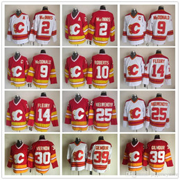 Wholesale Jarome Iginla Jersey - NHL Calgary Flames Throwback Jerseys, 2 Allan MacInnis 9 Lanny McDonald 10 Gary Roberts 12 Jarome Iginla 30 Mike Vernon Ice Hockey Jerseys