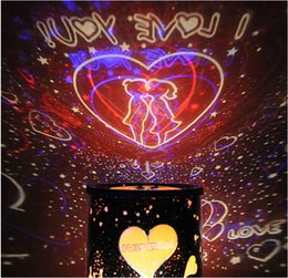 Wholesale Light Projecting Sky - Wholesale- Good gift Starry led i love you master project LED light Flashing Colorful Sky Star Master Night Light Lovely Projector