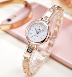 Wholesale Ladies Quart Watches - New women metal alloy bracelet watch 2017 big diamond simple casual ladies lady wholesale stainless dress quarts wrist watches