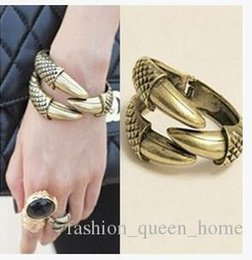 Wholesale Eagle Talons Bracelet - 36PCS Fashion Vintage PUNK Jewellery,Big Eagle talons Bangles Hawk Dragon Bangle Bracelet 3 claws Animal Jewelry F231