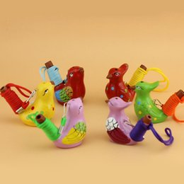 2019 brinquedos de borboleta de dinossauro Pássaro De Água De cerâmica Apito Manchado Toutinegra Song Chirps Casa Decoração Estatueta Para Crianças Presentes para Crianças ZA4043