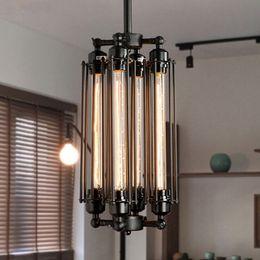Wholesale Energy Saving Halogen Bulbs - Edison Vintage Flute Pendant Lamp Loft Wrought Iron Chandeliers Dining Room Retro Edison Bulb Hanging Lamp European Indoor Lighting Fixture