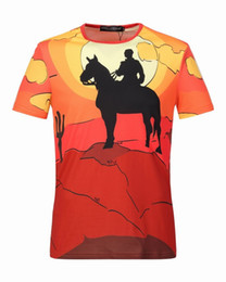 Wholesale Vacations Summer - 2017 hot Fashion Brand T-shirt Star Designer Spring Summer Color Sleeves Vacation Short Sleeve Tees Casual Letters Printing Tops ROBIN