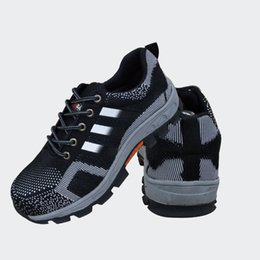 Wholesale Wear Resistant Shoes - Men Two layer embossed leather Boots Work Shoes Safety Protective Shoes Non-slip Shock absorption Wear-resistant PU sole black