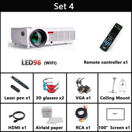 Wholesale Smart Beamer - Wholesale-5500 lumen 1920x1080 3d home theater projetor video proyector beamer smart Android 4.4 lcd tv led projector full hd accessories