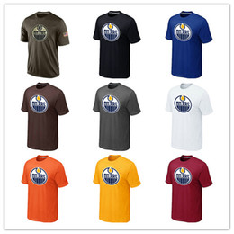 Wholesale T Shirts Cheap Xl - Popular NHL Edmonton Oilers T-Shirts 2017 Hockey Jerseys Cheap Tshirts Oilers Salute To Service Camouflage Mens Shirts White Black Blue