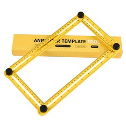 Wholesale Tools For Woodworking - Angle-izer Multi-Angle Ruler Measuring Instrument General Tools Four-Sided Ruler All Angel Forms For Builders Craftsmen Repetitive In stock