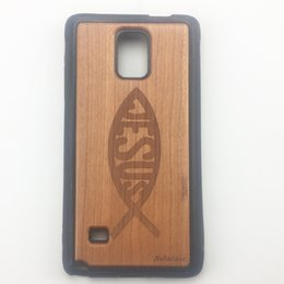 Wholesale Bumper Iphone Genuine - U&I Genuine Wood Cell Phone Cases Black PC Hard Bumper Drop-resistant Protective for Samsung S6 edge