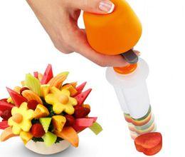 Escultura de frutas vegetais on-line-Salada de frutas Carving Vegetais Arranjos de Frutas Bolo Smoothie Ferramentas de Cozinha Bar De Jantar Cozinhar Acessórios Suprimentos Produtos