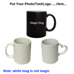 Wholesale Photos Cup - Personalized Customized Mug Color Changing Cup Mischief Managed Magic Cup DIY Photo Sensitive Coffee Mug Tea Cup Gift Totoro 3 Types