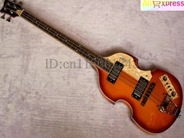 Wholesale Electric Guitar Honeyburst - Wholesale-2015 New + Factory + Hofner Violin bass guitar Hofner BB2 electric bass in honeyburst finish