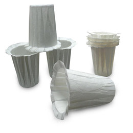 Wholesale Paper Coffee Filters - Disposable Filters Paper K Carafe Filter Cups K Carafe Compatible Paper-(1000 Filters) (White)