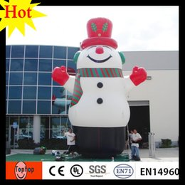 Wholesale Christmas Snowman Inflatables - high 5m 16.5ft inflatable snowman for christmas decorating halloween costumes china wholesale holiday products high quality IB002