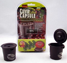 Wholesale Coffee Capsule Reuseable - 450pcs lot(1pack=3pcs) Clever Coffee Capsule . Reuseable Single Coffee Filter