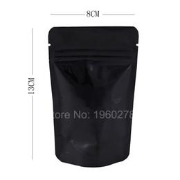 Wholesale Wholesale Black Ziplock Foil Bags - 8x13cm(3x5in) 100pcs Heavy-Duty 5 MIL aluminum foil stand up zip lock bags Clear  Black ziplock packaging bag