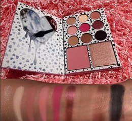 Wholesale Glitter Eye Shadow Set - NEW Kylie Cosmetics i want it all eyeshadow Palette 9 Color Eye Shadow+ Blush +Bronzers Highlighters Set kylie jenner !DHL free shipping