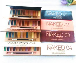 Wholesale Makeup Up Cases - 2017 NAKED 12 color Professional Makeup Naked Eyeshadow Palettes Smoky Eye Shadow Palette with Make up Brush Case Cosmetic KYLIE LORAC TARTE