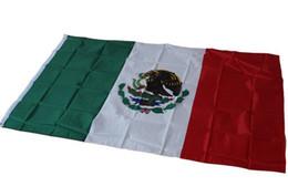10 stücke 90 * 150 cm Mexiko Flagge Polyester Flagge Banner für Festival Dekoration mexikanischen nationalflagge 90x150 cm von Fabrikanten
