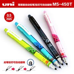 Wholesale Mechanical Pencil Leads - Wholesale-LifeMaster Mitsubishi Uni Kuru Toga Mechanical Pencils 0.5mm Lead Rotate Sketch Daily Writing Supplies M5-450T
