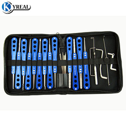 Wholesale high quality door locks - High Quality Champion Series lock Pick Set 20-in-1 For House and Car Lock Door Unlock Tool Locksmith Tools