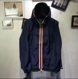 Wholesale Long Zip Hoodie - M324 ANTON Men Spring Autumn Printing thin Windbreaker Full Zip hoodies for men Sweatshirt Jacket Sportswear Clothes tracksuit