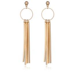 Wholesale Celebrities Earring - 2017 Fashion gold silver statement tassel earrings tbohemian earrings for teen girls statement jewelry celebrities