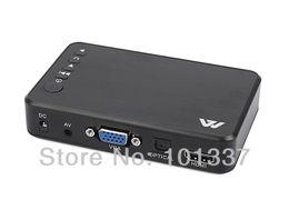Wholesale Media Player Hd Av Output - Wholesale- Jedx MP023 Full HD 1080P USB External HDD Media Player with Optical HDMI VGA AV output SD support USB host MKV H.264 RMVB WMV