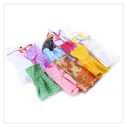 Wholesale Western Style Dresses Fashion - Different Colors Styles Doll Dress Short Dress For Barbie Dolls Can Any Change Clothes Style Color Random Doll Clothes Toys Free Shipping