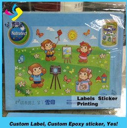Wholesale Printed Name Labels - new style Glossy & smoothy paper printing blank label sticker with company logo printed, company name prited adhesive label