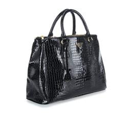 Wholesale Ladies Doctor Bag - New women Alligator single shoulder handbag lady popular evening bag black rose red purple color no133