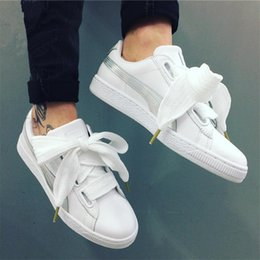 Wholesale Ladies Fashion Trainers - Fashion Basket Heart Explosive Running Shoes For Women Rihanna Outdoor Sports Flats,High Quality Ladies Black White Trainers Free Shipping 3