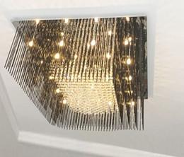 Wholesale Black Flush - new design black crystal chandeliers modern lustre de cristal lampe living room chandelier LED light free shipping LLFA