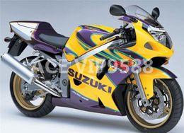 Wholesale Motorcycle Fairings For Suzuki - 3 Free Gifts New ABS motorcycle Fairing Kit for SUZUKI GSX-R600 GSX-R750 600 750 GSXR 2001 2002 2003 K1 01 02 03 Bodywork ok yellow purple