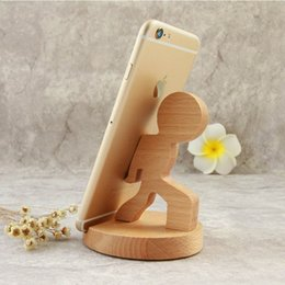 Wholesale Unique Phone Stands - Universal Unique Wooden Style Cellphone Holder Stand Bracket For iPhone For Samsung For XiaoMi Smart Phones Portable