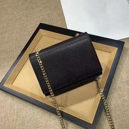 Wholesale Black Bag Tassels - NEWEST Original Quality TASSEL SATCHEL Wholesale female Handbags CLASSIC CHAIN WALLET FLAP FRONT WALLET WITH METAL CHAIN