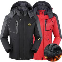 Wholesale Waterproof Jacket 5xl - Men Women Winter Jacket Hiking Coat for Men Outdoor Thermal Windbreaker Jaqueta Camping Skiing Sport Jacket Waterproof Windproof Jackets