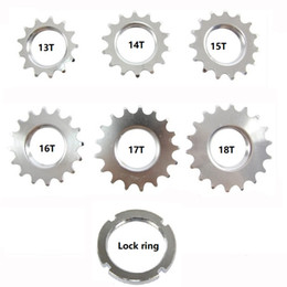 """Wholesale Fix Chain - 13T 14T 15T 16T 17T Fixed gear cogs,track bike Single Speed Sprocket, Bike Cogs with lock ring,for 1 8"""" chain"""