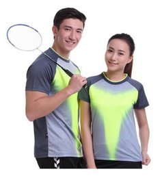Wholesale Butterfly Tennis Shirt - 2017 Sportswear Quick Dry Breathable Badminton Shirt, Women's   Table Tennis Clothing Patchwork Men's Short Sleeve Game Team T Shirts