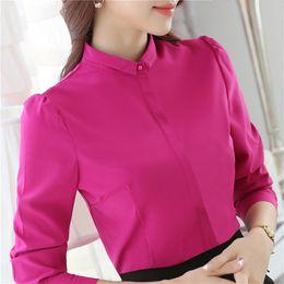 Wholesale Korean Office Wear - YIMOSI Autumn Women Blouse OL Shirts 2017 Korean Style Long Sleeve Lady Shirt Office Tops Female Work Wear Slim Blusas