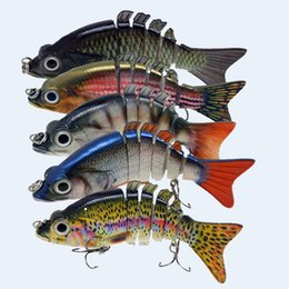 Wholesale Treble Jointed Lure - New Arrival Lifelike Jointed Sections Swimbait Fishing Lure Crankbait Hard Bait Fish Treble Hook Fishing Tackle Artificial Bait