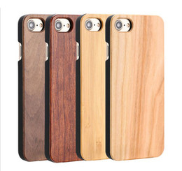 Wholesale Wooden Back Case - Brand New Phone Case Wooden For Iphone 6 6s 7 plus Bamboo Wood With PC Hard Back Cover For Samsung S6 S7 edge S8 Plus Free DHL