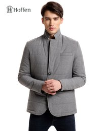 Wholesale Pads Blazer - Wholesale- Hoffen High Quality Men Warm Jacket Winter Thick Mens Padded Jackets Quilted Blazer Jaqueta Masculina Male Casual Outwear