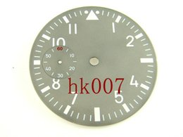 Wholesale Second Hand Parts - P45 Debert 38.9mm Grey Dial With Green Luminous Second hand at 9 White numberals Dial Low price and good quality Dial