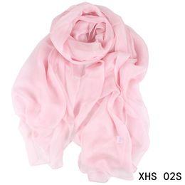 Wholesale Solid Color Long Silk Scarves - Women Silk Scarf 200*135cm Fall Winter Long Scarf Solid Color Fashion Soft Blanket Pashmina Scarfs High Quality Wrap Shawl Scarves Wholesale