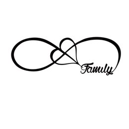 Wholesale heart decals - Hot Sale For Family Love Heart Infinity Forever Symbol Car Styling Jdm Vinyl Decal Car Window Bumper Sticker Accessories Decor