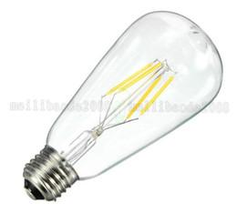 Wholesale Edison Style Light Bulbs - NEW ST64 4 6 8W E27 110V 220V Dimmable 2700K Edison Style Vintage Retro LED Filament Light Bulb Lamp 2700K Warm White MYY